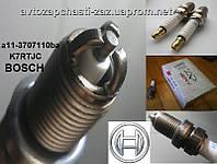 Оригинальная 3-х лепестковая искровая свеча BOSCH FR5DTC на Chery Amulet A15. Свеча зажигания K7RTJC Karry A18