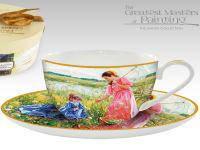 Чашка с блюдцем Аверин А. Женщина на лугу