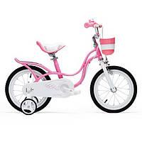 Велосипед детский леди с удобным сидением и корзиной