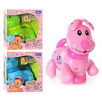 Детская развивающая игрушка Собака EM 070 A,муз, свет, ездит, шевелит головой и хвостом, 3 цвета, на бат-ке,