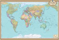 Карта мира политическая 1:22 млн картонная (1097)