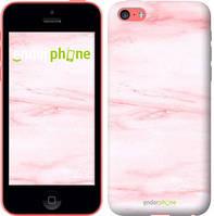 """Чехол на iPhone 5c розовый мрамор """"3860u-23-8079"""""""