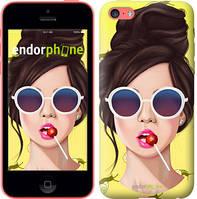 """Чехол на iPhone 5c Девушка с чупа-чупсом """"3979u-23-8079"""""""