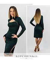 Бутылочное платье 15446