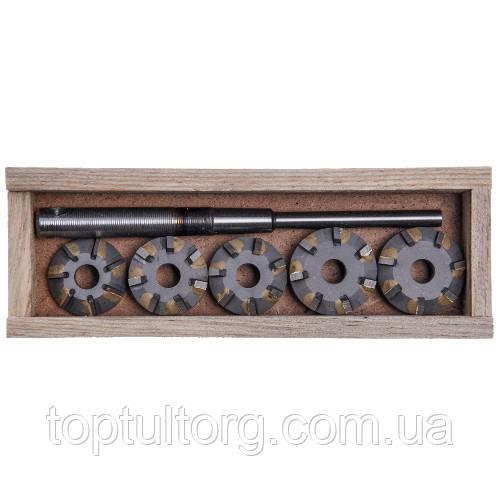 Набор зенкеров для сёдел клапанов ВАЗ 2108 (1100,1300)  (9 резцов)   (Харьков)  ШАР08-9РХ