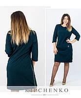 Бутылочное платье 15431, батал
