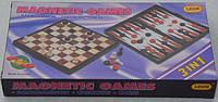 Игровой набор 3 в 1: шахматы, шашки, нарды