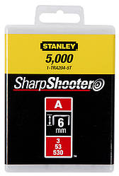 Скобы  4мм (1000шт.)      STANLEY 1-TRA202T
