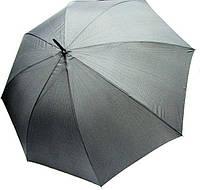 Зонт-трость мужской полуавтомат Derby 77267P-2 Серый мелкая клетка