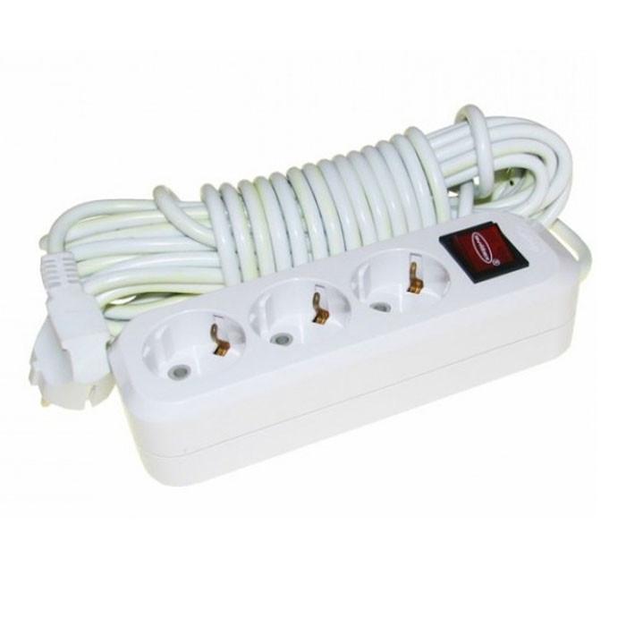 Удлинитель 3 розетки с выключателем 3м SVITTEX SV-012-3