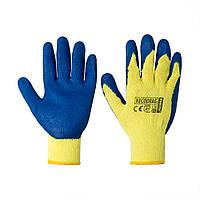 Перчатки хозяйственные универсальные Reis желто-синие