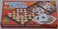 Игровой набор 4 в 1: шахматы, шашки, нарды, карты, фото 1