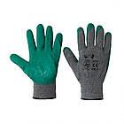 Перчатки хозяйственные V-v серо-зеленые