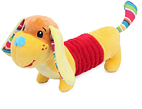 Желтая собака, щенок при наклоне рыкает. mamamiya&papas, фото 1