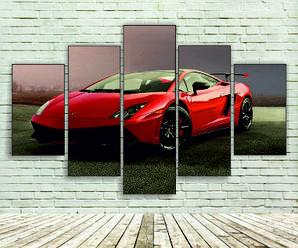 """Модульна картина"""" Спортивний автомобіль"""""""