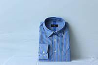 Синя чоловіча сорочка з довгим рукавом