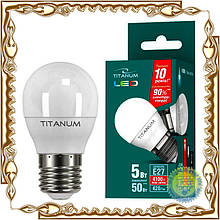 Лампочка светодиодная Titanum G45 5W E27 4100K 220V