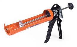 """Пистолет для выдавливания силикона, """"скелет"""", алюминивая ручка Miol 09-155"""