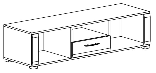 Тумбочка под телевизор с ящиком
