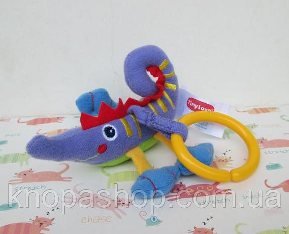 Фиолетовая игрушка подвеска  на дугу, коврик, кроватку, кресло Tiny Love