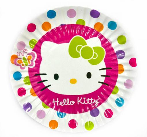 Тарелки Bonita бумажные с рисунком Hello Kitty 18 см 10 шт