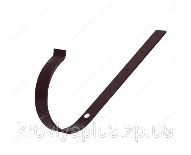 Водосточная сисиема BRYZA 125 Держатель желоба прямой коричневый