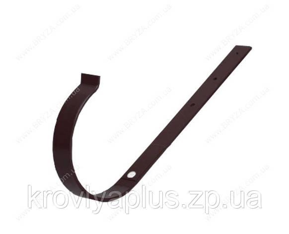 Водосточная сисиема BRYZA 125 Держатель желоба прямой коричневый, фото 2