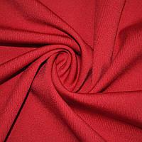 Трикотаж ткань трикотажная костюмный стрейч облегченный, легкий, летний красный