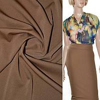 Трикотаж ткань трикотажная костюмный стрейч облегченный, легкий, летний cветло коричневый