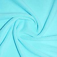 Велсофт махра махровая ткань  голубая ш.205,
