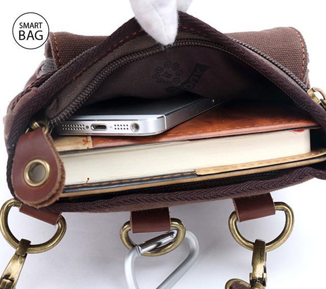 Небольшая мужская сумка Augur   коричневая