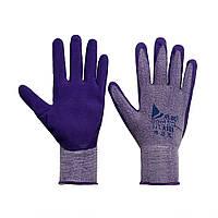 Перчатки хозяйственные Qihang 1+1 фиолетовые