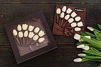 Шоколадные тюльпаны  для девушек на 8 марта