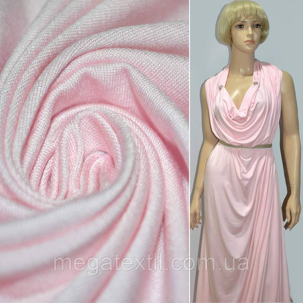 Трикотаж вискоза стрейч розовый  - Интернет магазин тканей Мегатекстиль в Запорожье