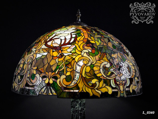 Настольная лампа Тиффани охотника