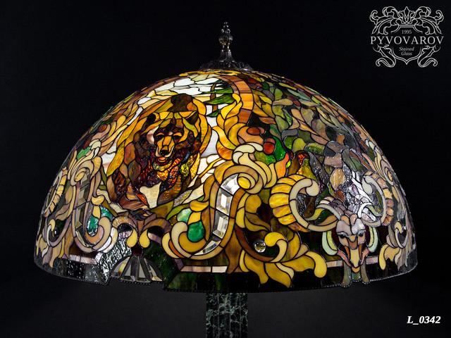 Витражный светильник Тиффани