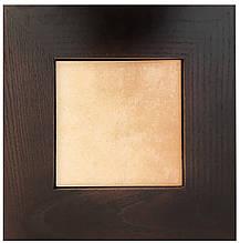 Плитка мраморная керамическая в рамке из натурального дерева (10х10 см)