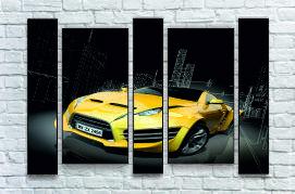 """Модульна картина"""" Автомобіль жовтий"""""""