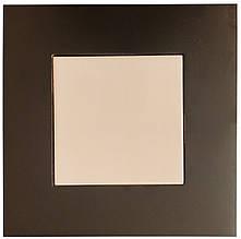 Плитка кремовая керамическая в рамке из натурального дерева (10х10 см)