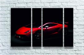 """Модульна картина"""" Автомобіль червоний"""""""