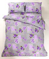 Красивое хлопковое полуторное постельное белье Lotus TENDRESSE ЛИЛОВЫЙ