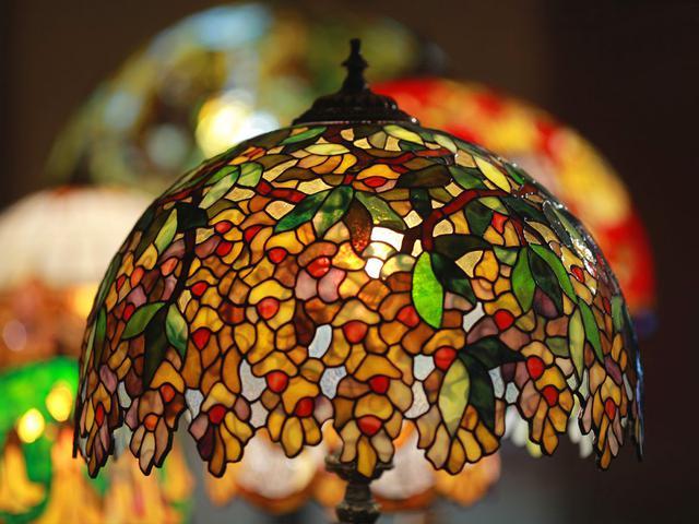 Лампа Тиффани Золотой дождь