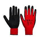 Перчатки хозяйственные V-v черно-красные