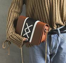 Стильная сумка сундучок со шнуровкой, фото 3