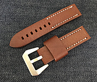 Ремень для часов тёмно-коричневый 22мм кожа, КАЧЕСТВО, фото 1