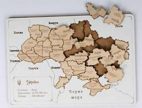 Пазл-конструктор BigEcoToys Карта Украины