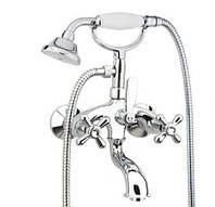 Итальянский смеситель для ванны с кристаллами Сваровски хром Fiore Margot Sky Италия