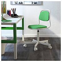 Детское компьютерное кресло ORFJALL зеленое