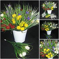 Искусственный цветущий лук, выс.31 см., 35/25 (цена за 1 шт. + 10 гр.)