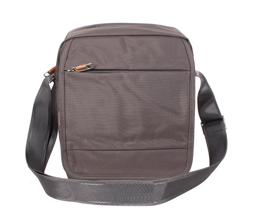 Мужская тканевая сумка NL231-32 серо-коричневая (тауп)